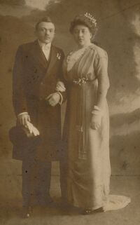 Wedding photo of Albert Melessen and Mietje Houthuijzen